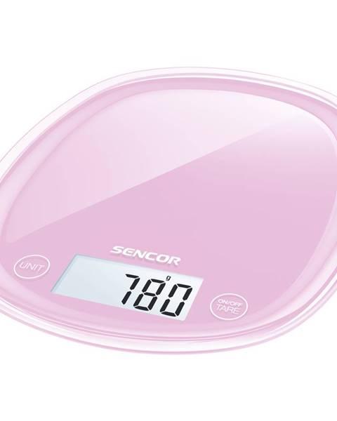 Ružová kuchynská váha Sencor