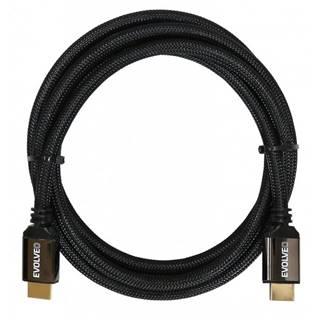 Kábel Evolveo Hdmi 2.1, 8K Ultra HD, 4K, 2K a FHD, 2m čierny