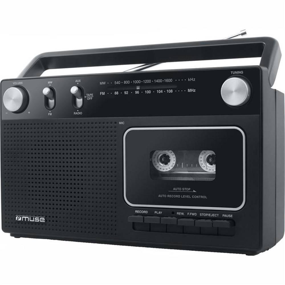 MUSE Rádiomagnetofón MM-152RC čierny