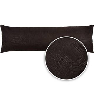 4Home Obliečka na relaxačný vankúš Náhradný manžel Doubleface čierna, 50 x 150 cm