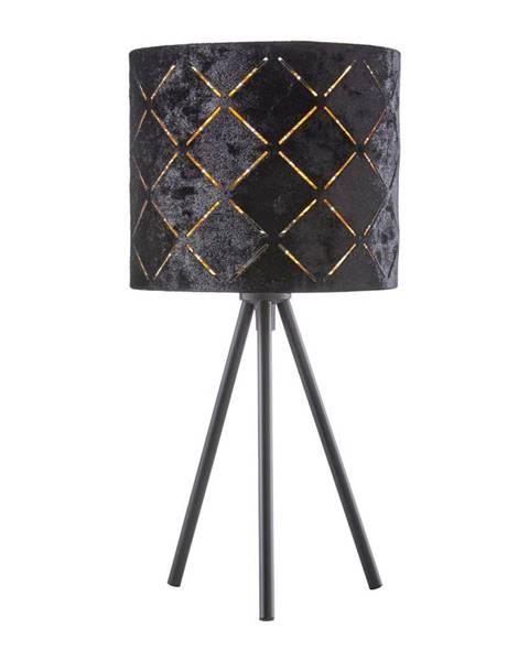 Čierna stolová lampa Möbelix