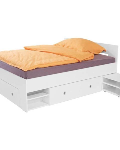 Biela posteľ Möbelix