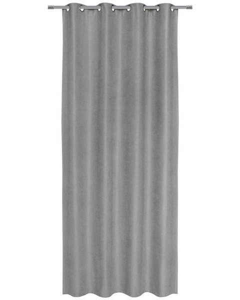 Sivý záves Möbelix