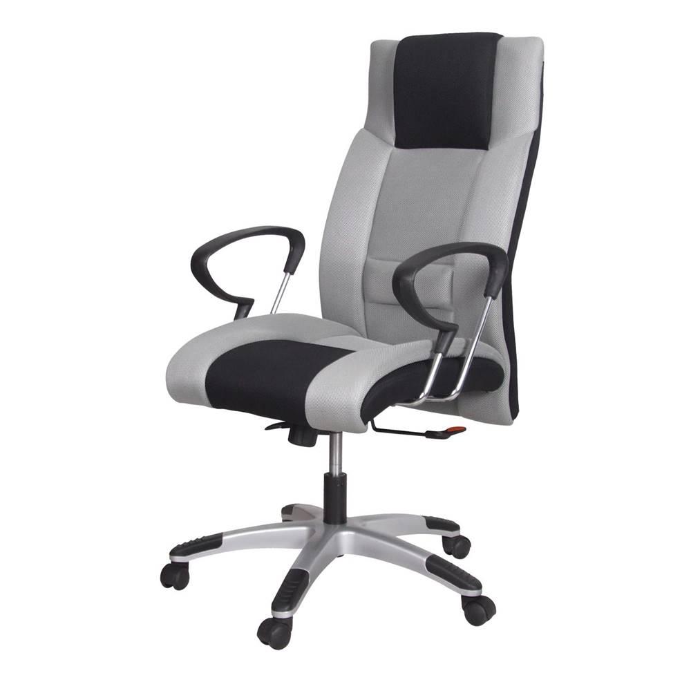 IDEA Nábytok Kancelárske kreslo PREMIÉR sivá/čierna K4