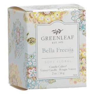 Sviečka s vôňou frézie Greenleaf Bella Freesia, doba horenia 15 hodín
