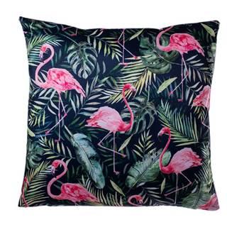Jahu Obliečka na vankúšik Flamingo listy, 40 x 40 cm