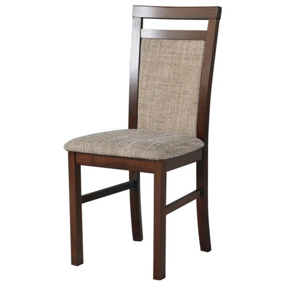 Sconto Jedálenská stolička MILAN 5 hnedá/béžová