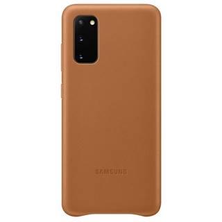 Kryt na mobil Samsung Leather Cover na Galaxy S20 hnedý