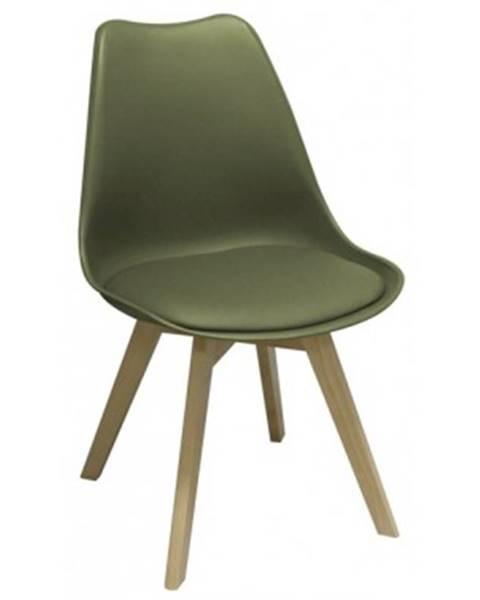 Zelená stolička ASKO - NÁBYTOK