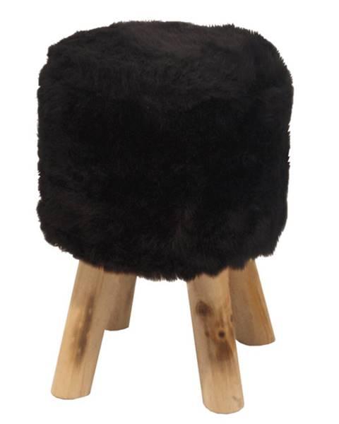 Čierna taburetka Jerry Fabrics
