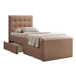 Moderná posteľ svetlohnedá 90x200 VISKA NEW
