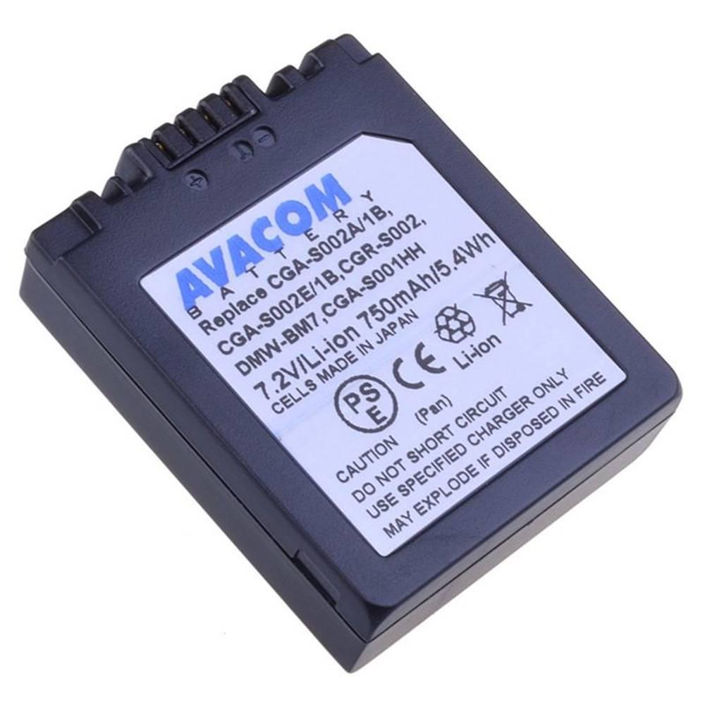Avacom Batéria Avacom Panasonic CGA-S002/DMW-BM7 Li-ion 7,2V 750mAh