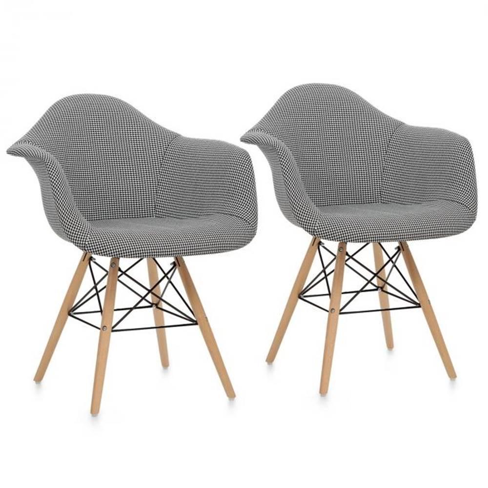OneConcept OneConcept Visconti, stolička, 2-dielna sada, polstrovaná PP-konštrukcia, čierna farba