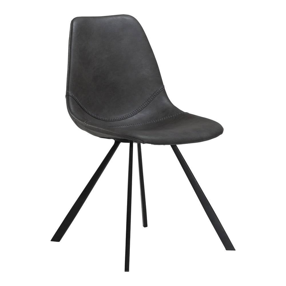 DAN-FORM Denmark Sivá jedálenská stolička z eko kože DAN–FORM Denmark Pitch