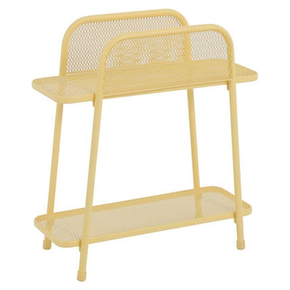 ADDU Žltý kovový odkladací stolík na balkón ADDU MWH, výška 70 cm