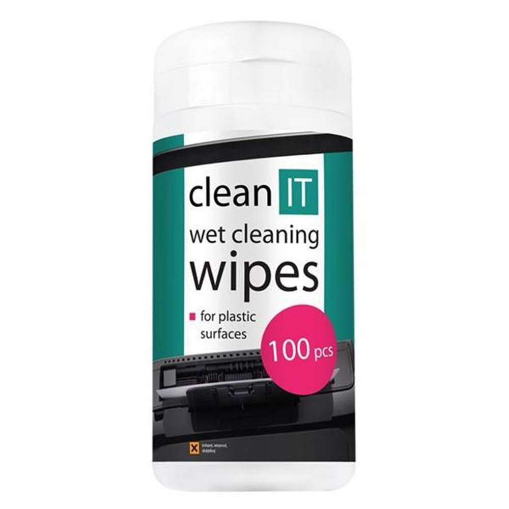Clean IT Čistiaca sada Clean IT mokré na plasty, 100ks