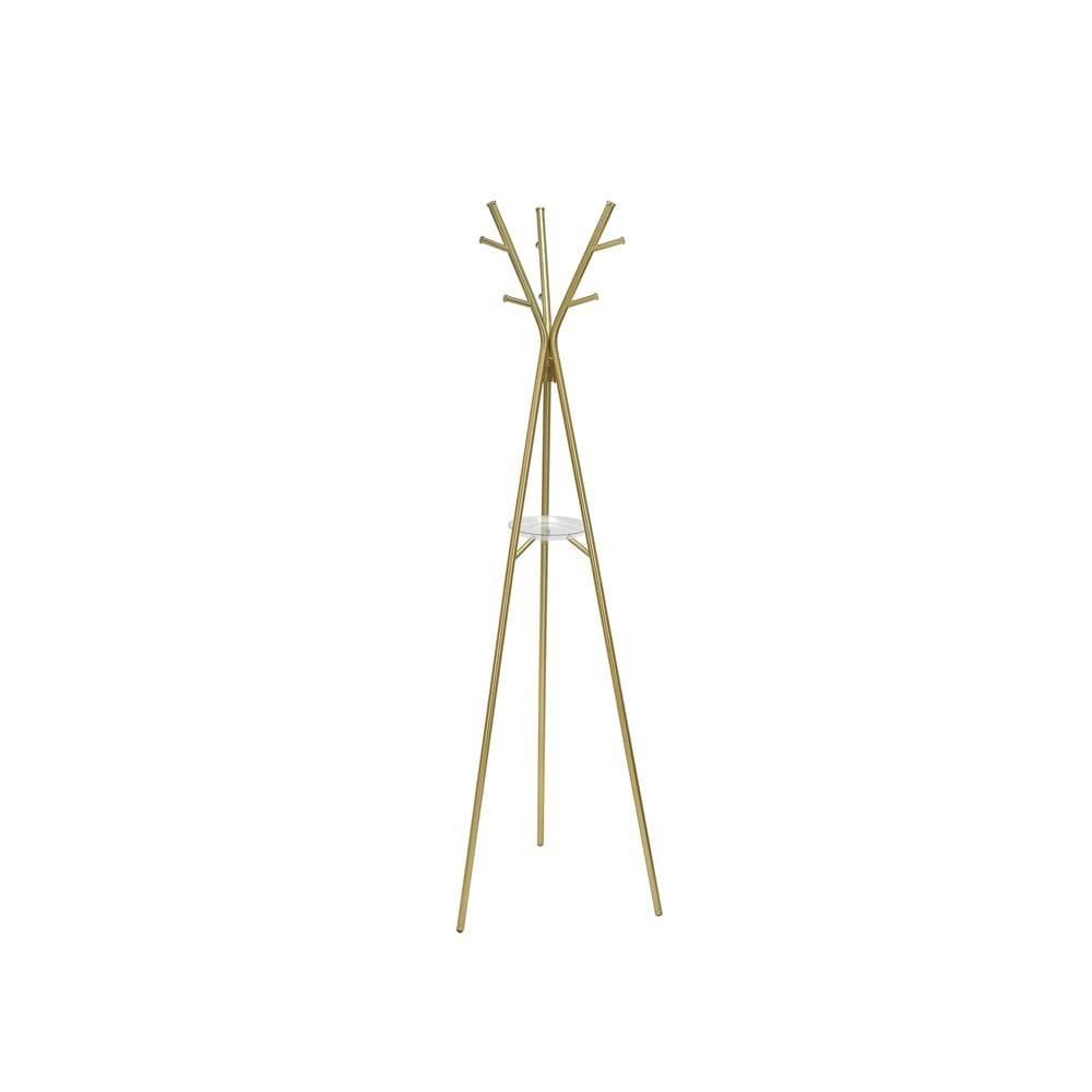 Leitmotiv Oceľový stojací vešiak v zlatej farbe Leitmotiv Deer