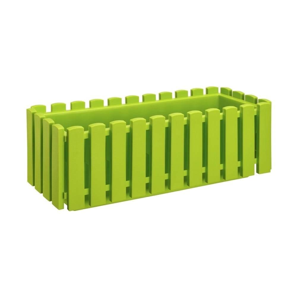 Gardenico Hráškovozelený samozavlažovací črepník Gardenico Fency Smart System, dĺžka 50 cm