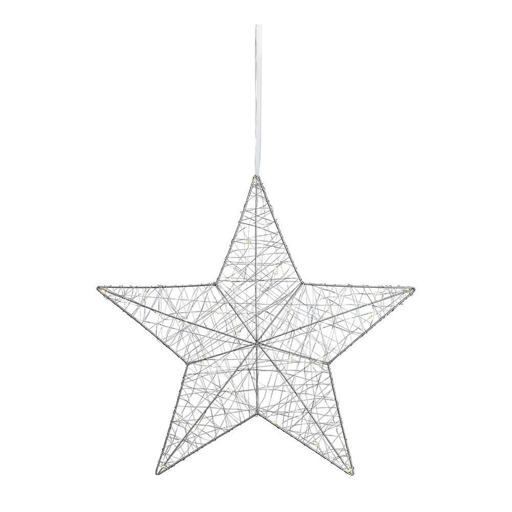 Markslöjd LED svietiaca dekorácia Markslöjd Tjusa Star Silver, ø 50cm