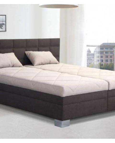 Hnedá posteľ ASKO - NÁBYTOK