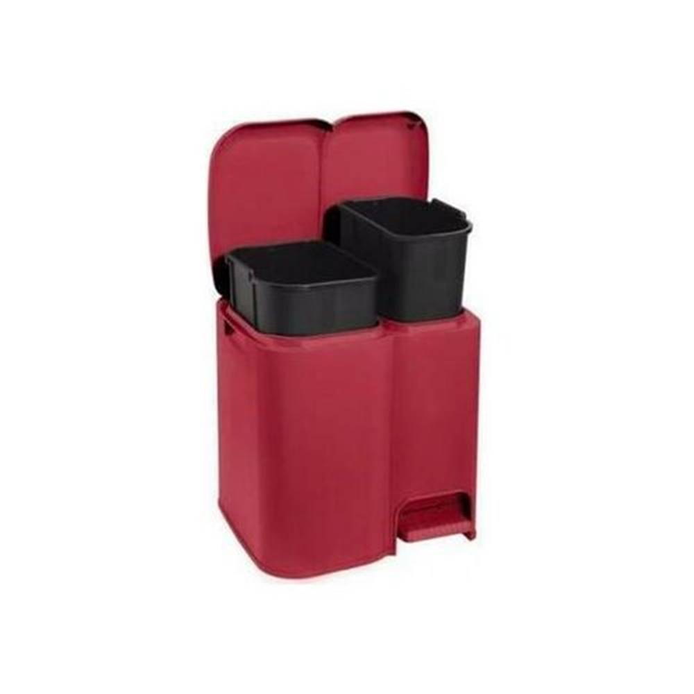 Tontarelli Tontarelli Kôš na triedený odpad DUO 13 + 8 l, červená