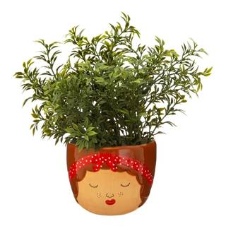 Hnedo-béžový kvetináč Sass & Belle My Kind of People Libby