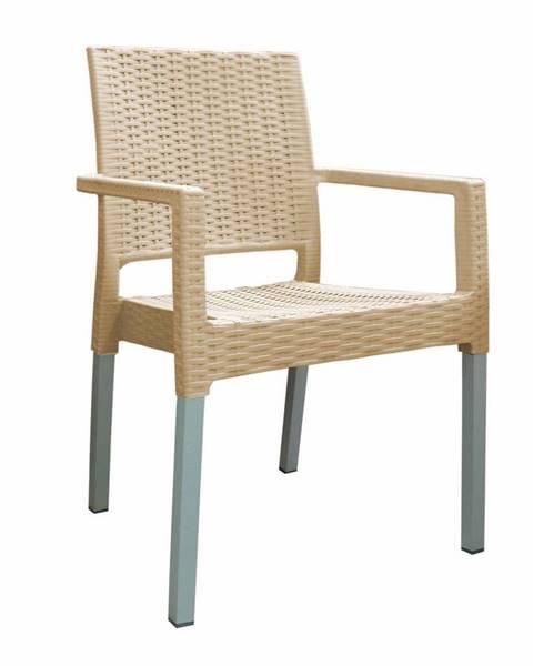 Béžová stolička KELA