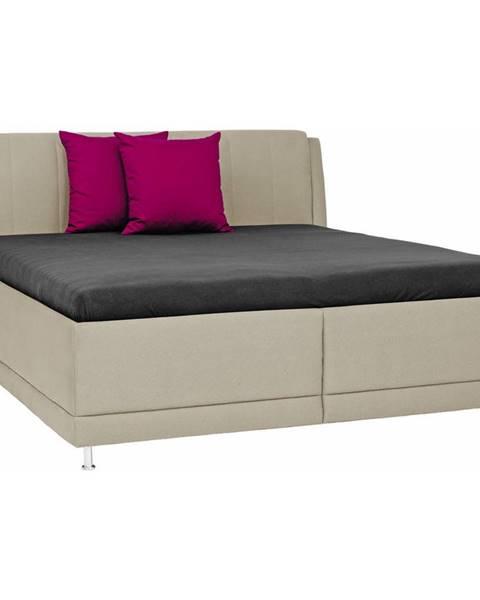 Béžová posteľ Novel
