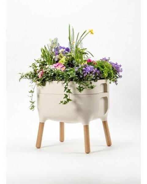 Béžový kvetináč Plastia