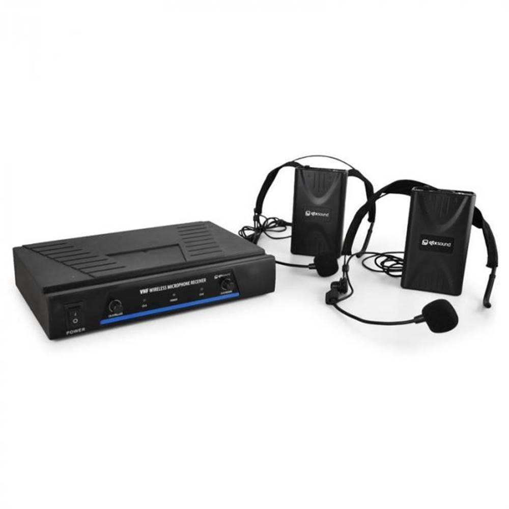QTX QTX Sada VHF bezdrôtových mikrofónov, 2 kanály, 2 x headset