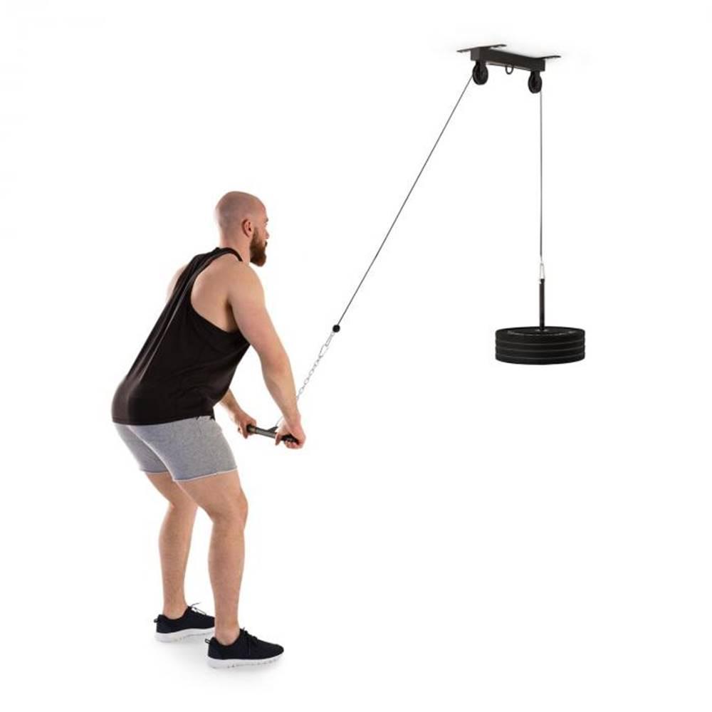 KLARFIT KLARFIT Hangman, kladka, stropná inštalácia, 2 m kábel, tricepsová tyč, čierna farba