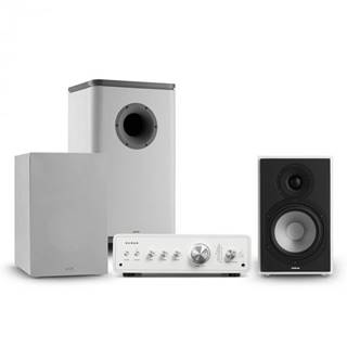 Numan Drive 802, stereo sada, zosilňovač, reproduktor, subwoofer, kryt, biela/sivá