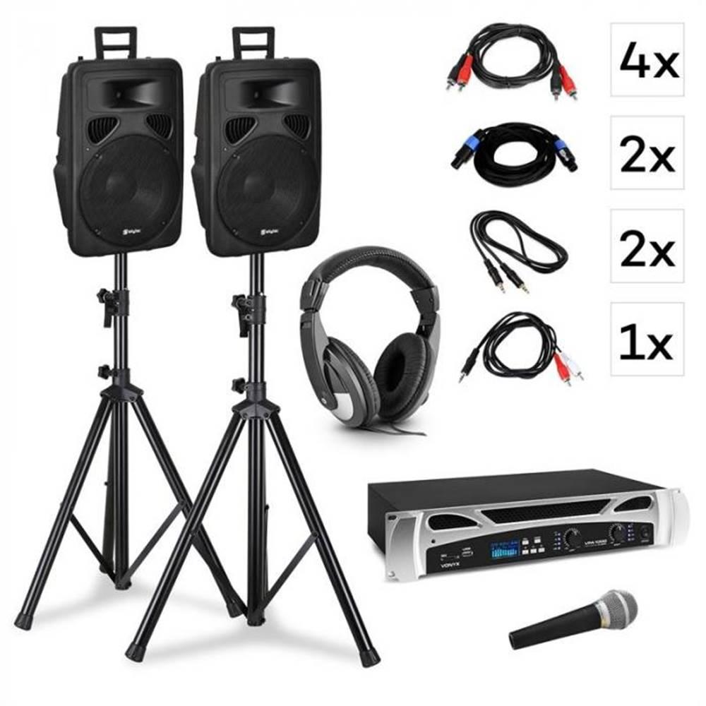 Vonyx Vonyx Singapore, DJ systém – sada, PA zosilňovač 2 x 500 W, 2 x 2-pásmový reproduktor