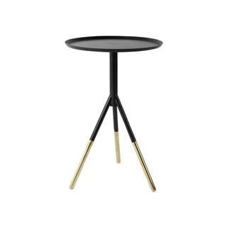 Mosadzný odkladací stolík Dutchbone Elias, ⌀ 37 cm