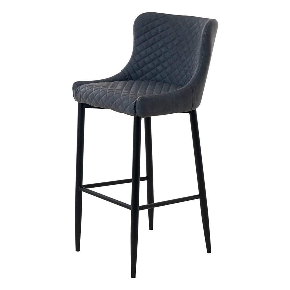 Sivá čalúnená barová stolič...