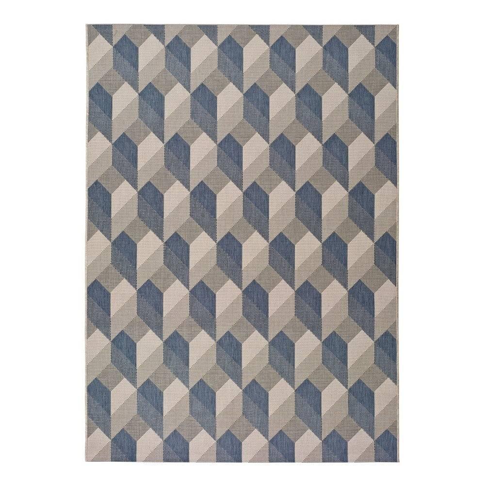 Universal Béžovo-modrý vonkajší koberec Universal Silvana Miratta, 80 x 150 cm