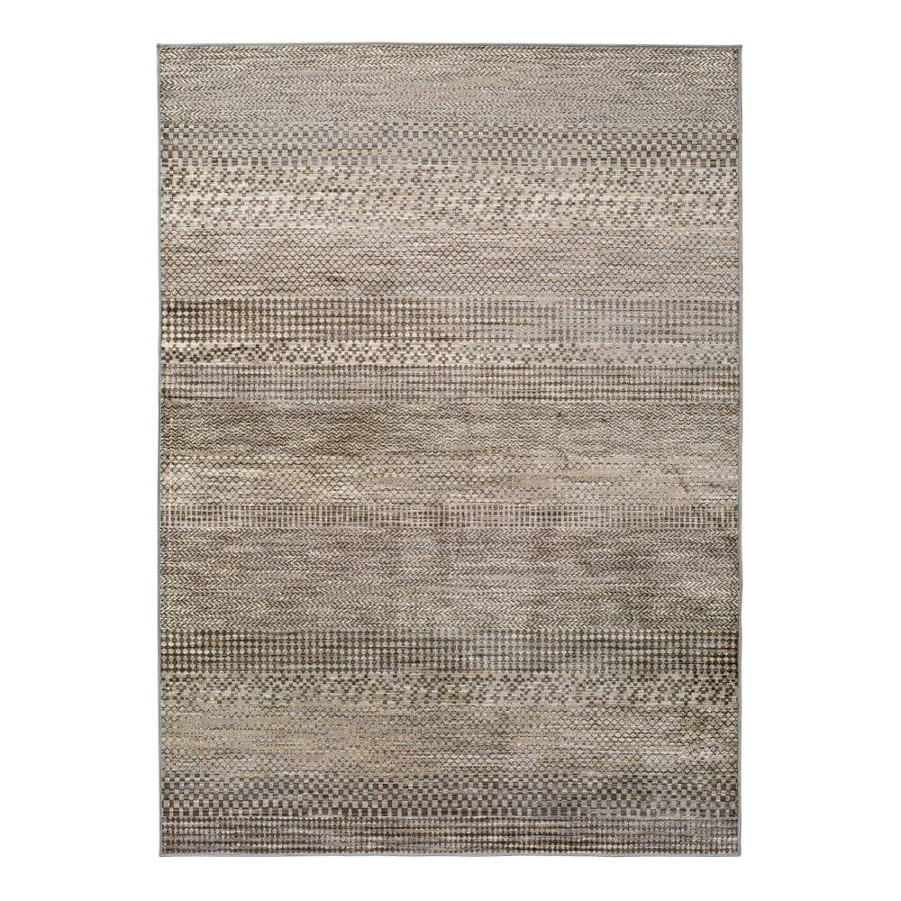 Universal Sivý koberec z viskózy Universal Belga Beigriss, 140 x 200 cm