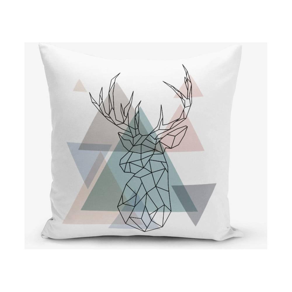Minimalist Cushion Covers Obliečka na vankúš s prímesou bavlny Minimalist Cushion Covers Deer, 45×45 cm
