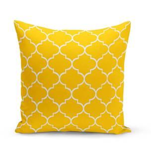 Žltý vankúš s výplňou Jane, 43×43 cm
