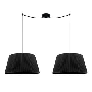 Čierne stropné svietidlo Sotto Luce KAMI Elementary L 2S