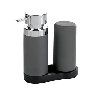 Sada 2 sivých zásobníkov na umývací prostriedok Wenko Squeeze, 250ml