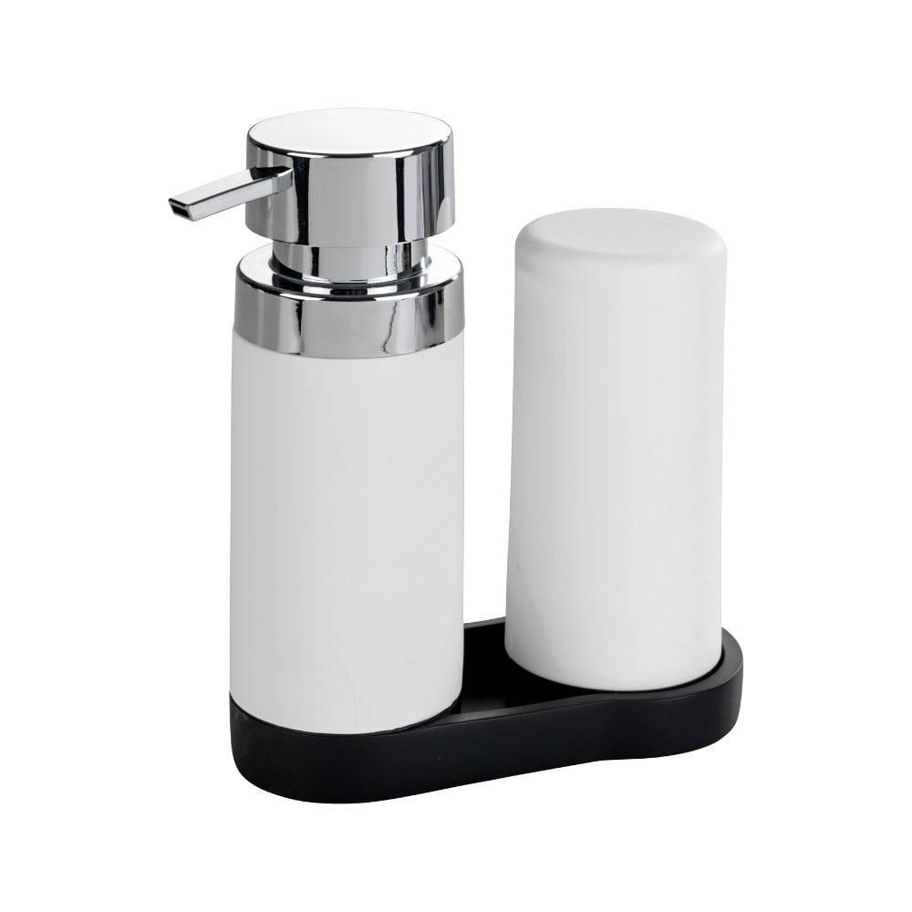 Wenko Sada 2 bielych zásobníkov na umývací prostriedok Wenko Squeeze, 250ml
