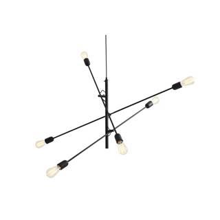 Čierne závesné svietidlo na 6 žiaroviek Custom Form Twigo