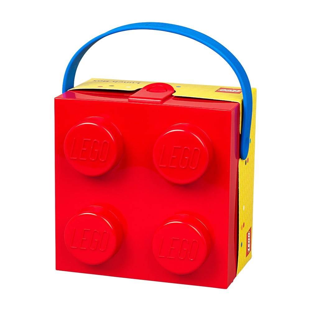 LEGO® Červený úložný box s rukoväťou LEGO®