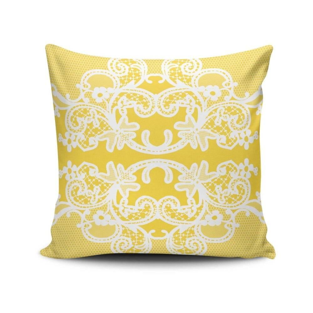 Cushion Love Vankúš s prímesou bavlny Cushion Love Amarillo, 45 × 45 cm