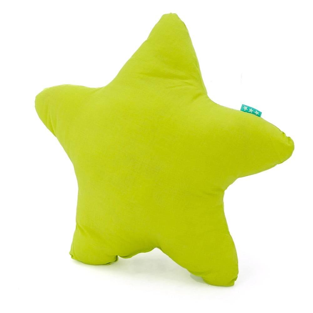 Happy Friday Basic Zelený bavlnený vankúšik Happy Friday Basic Estrella Green, 50x50cm