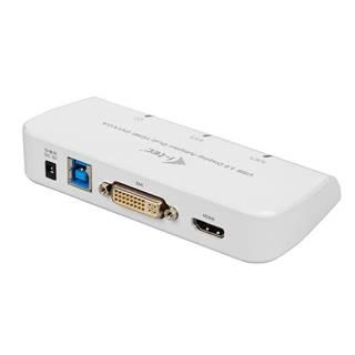 Redukcia i-tec USB 3.0/ Hdmi, DVI, VGA biela