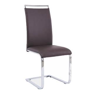 Jedálenská stolička tmavohnedá BARNA NEW