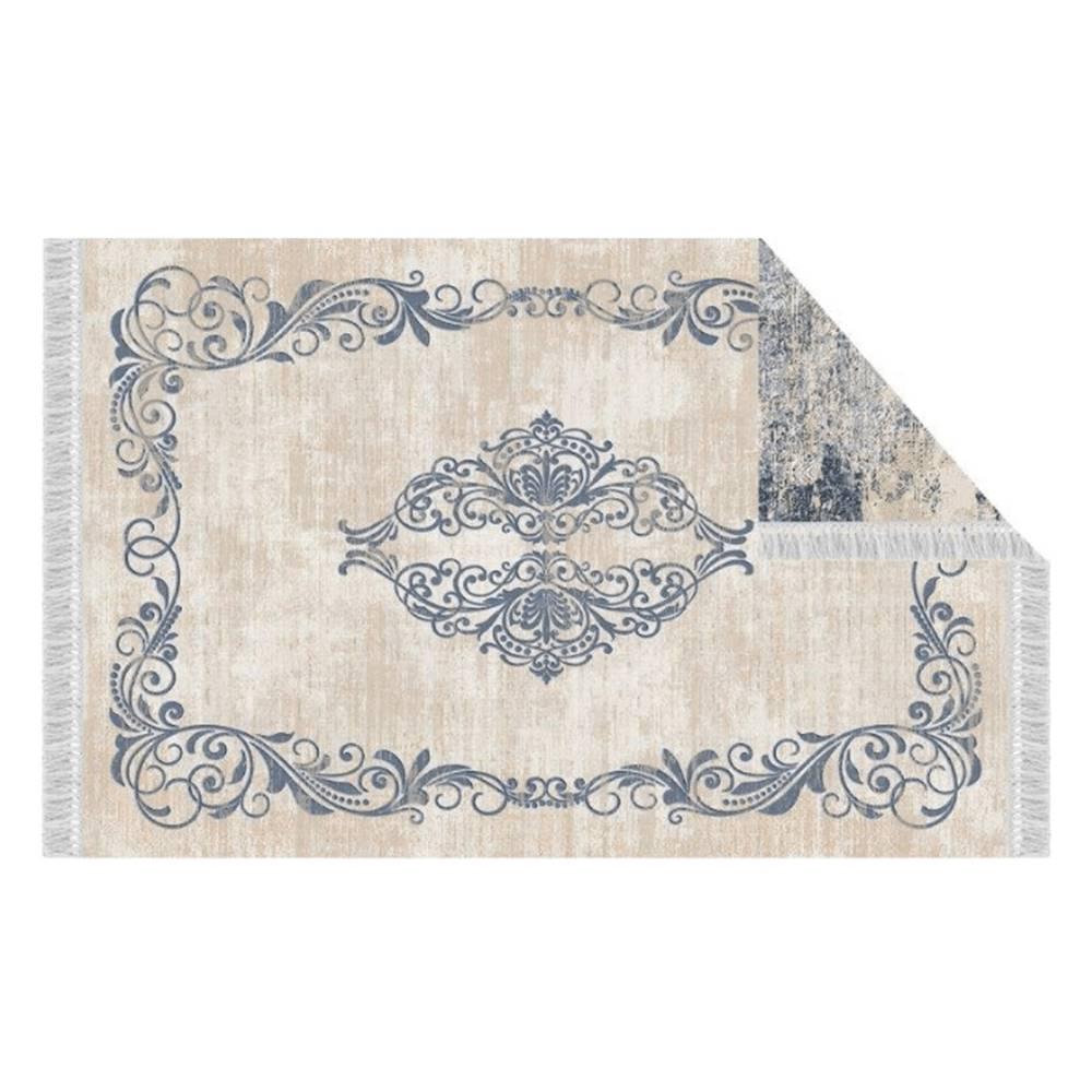 Tempo Kondela Obojstranný koberec vzor/modrá 180x270 GAZAN