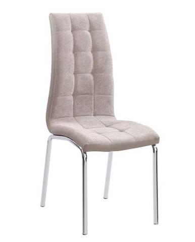 Jedálenská stolička béžová/chróm GERDA NEW